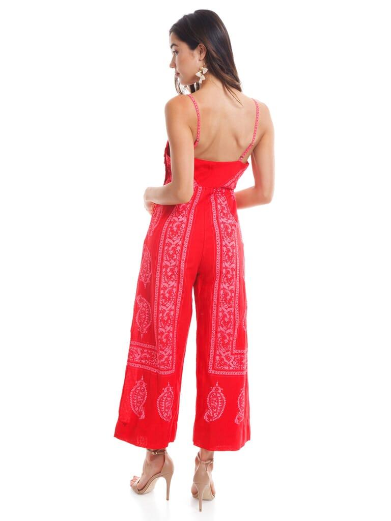 Free People Feel  Sun Jumpsuit in Red