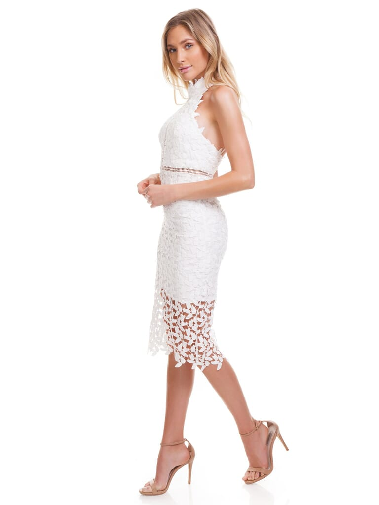 BARDOT Gemma Dress in Ivory