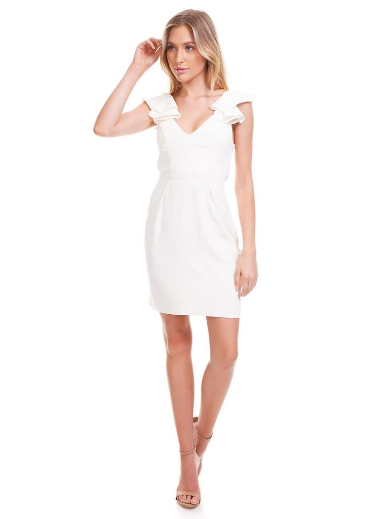 Amanda Uprichard Gimlet Dress in Ivory