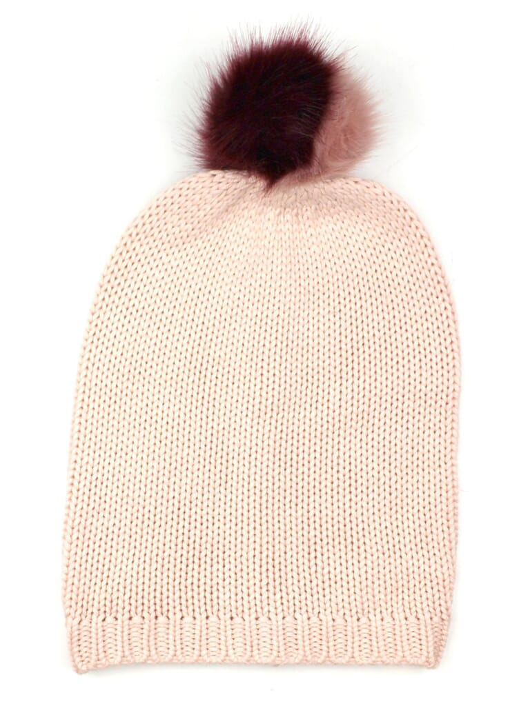Michael Stars Give Me Some Cashmere Beanie in Blush