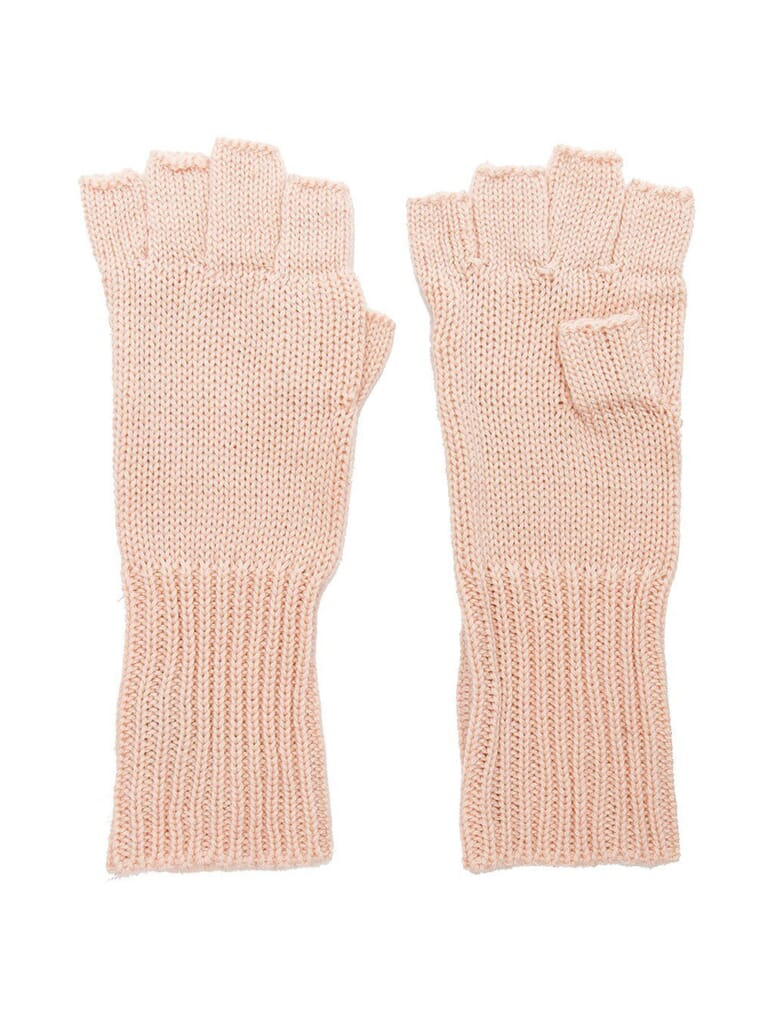 Michael Stars Give Me Some Cashmere Fingerless Gloves in Blush