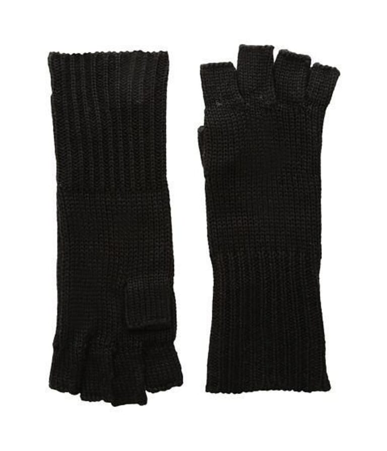 Michael Stars Give Me Your Cashmere Fingerless Gloves in Black