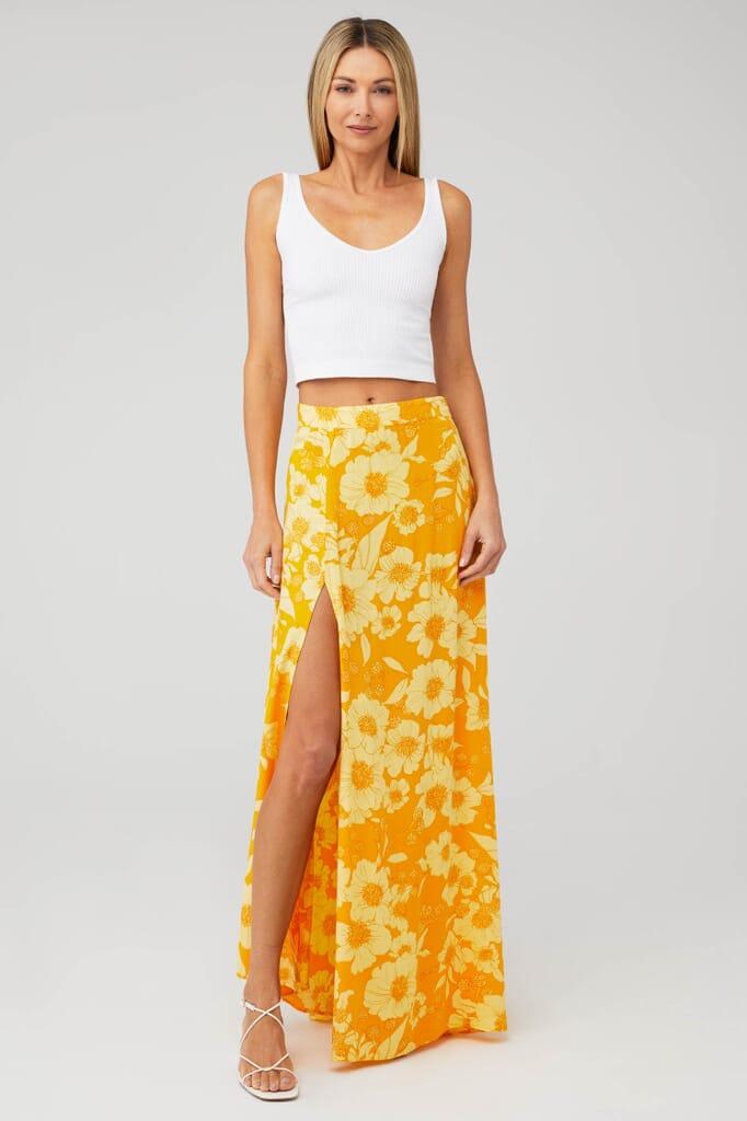 XIX PALMS Gold Coast Festival Skirt in Gold Coast