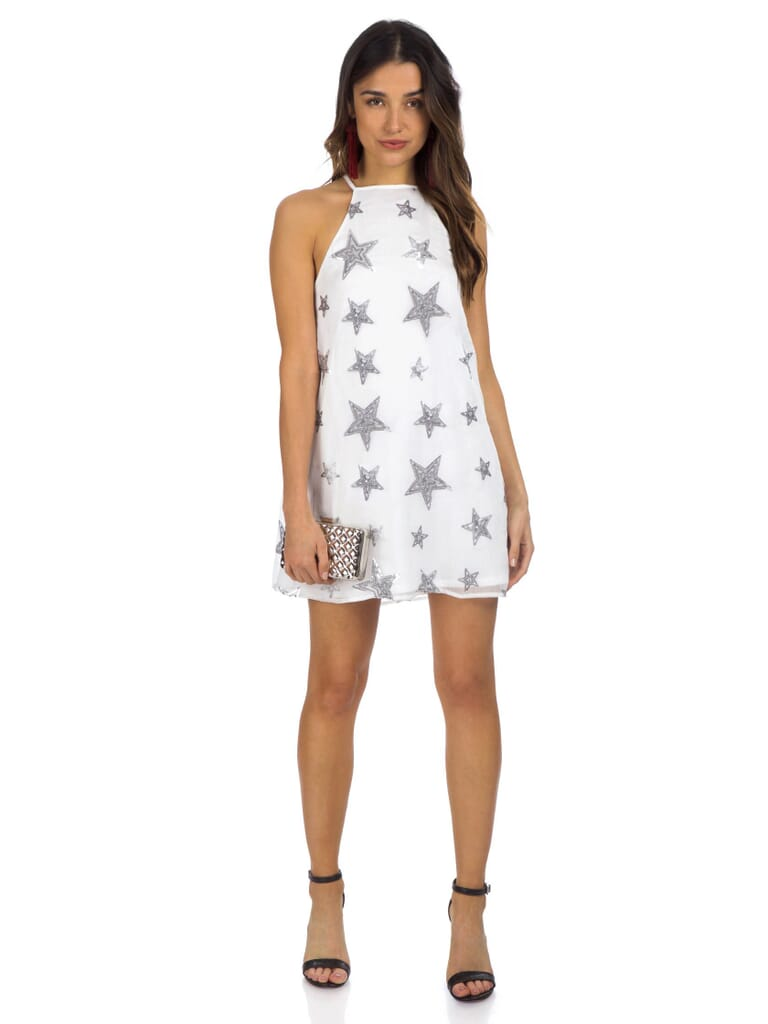 Show Me Your Mumu Gomez Mini Dress in Star Bright Star Light