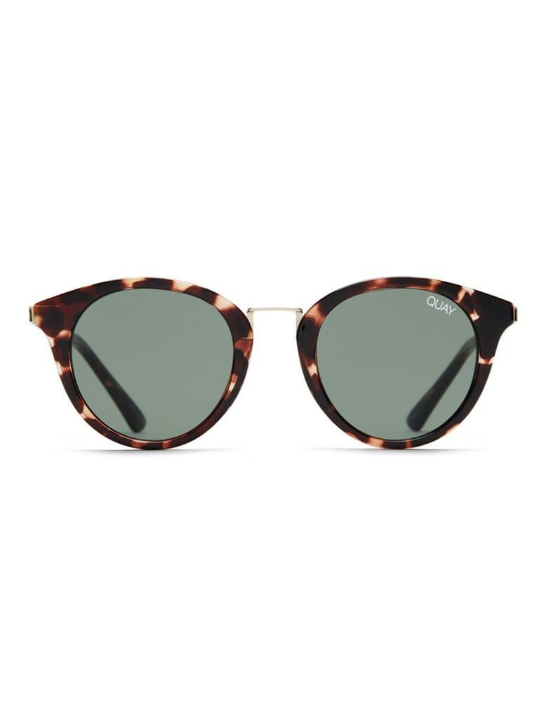 Quay Australia Gotta Run Sunglasses in Tortoise/Green