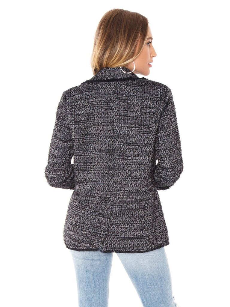 Cupcakes and Cashmere Gregory Blazer in Black