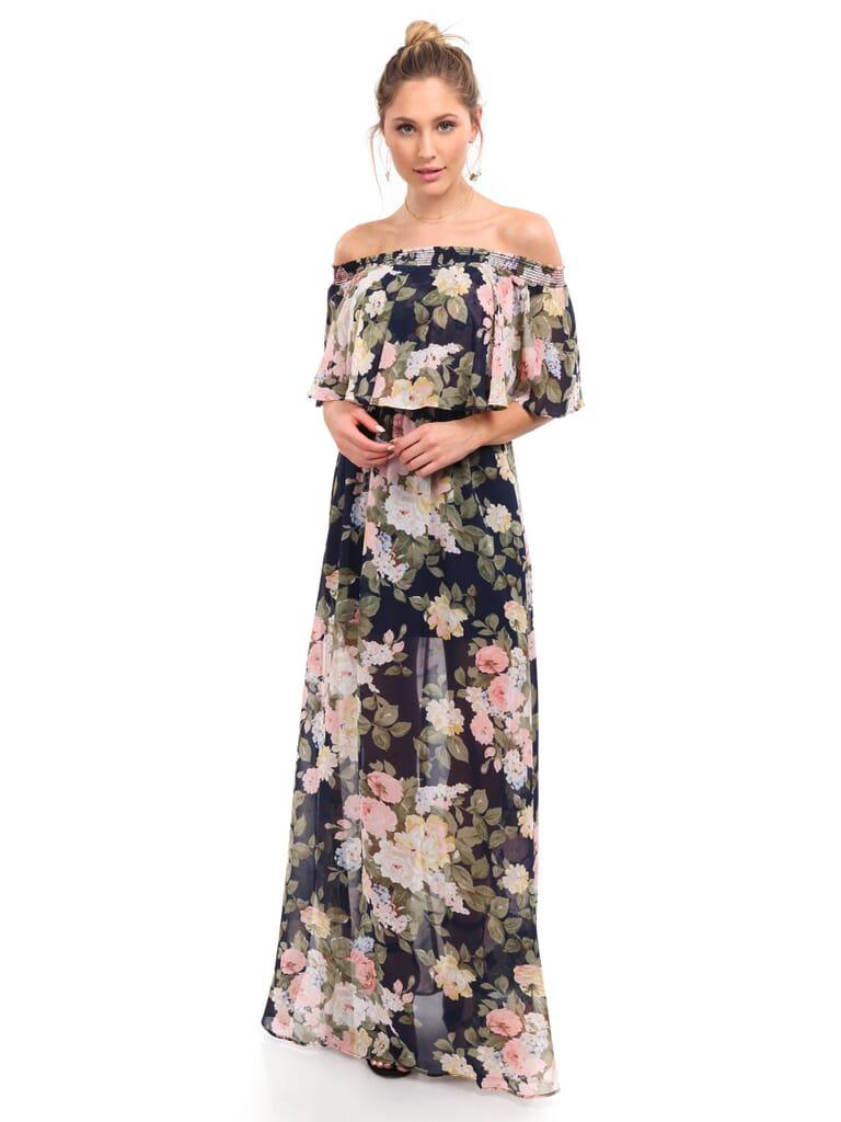 Show Me Your Mumu Hacienda Maxi Dress in Party Blossom