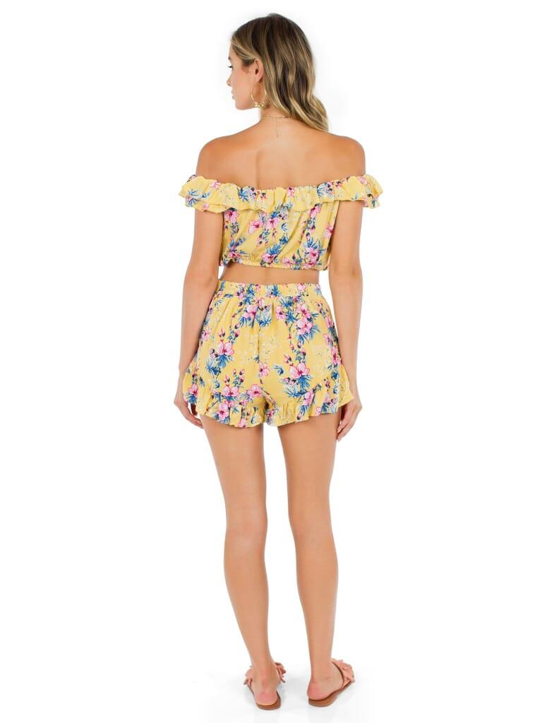 FashionPass Hawaiian Daze Two-Piece Set in Tropical Yellow