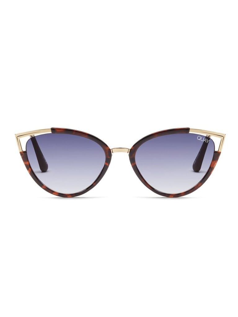 Quay Australia Hearsay Sunglasses in Tortoise/Navy