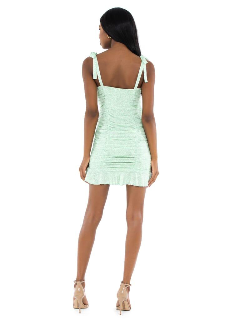 ASTR Heiress Dress in Mint Ditsy