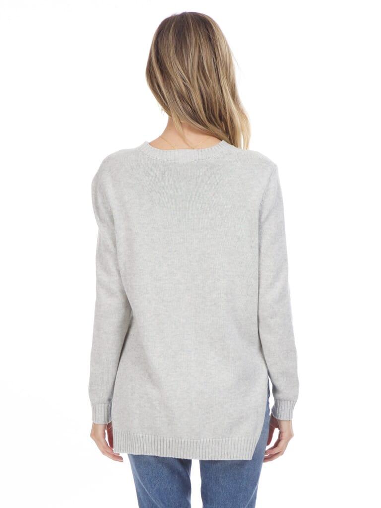 Six Crisp Days High Low Sweater in Grey