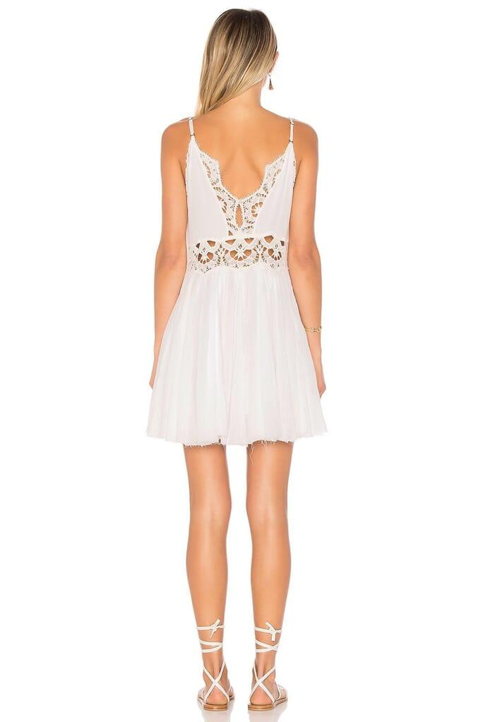 Free People Ilektra Mini Dress in White