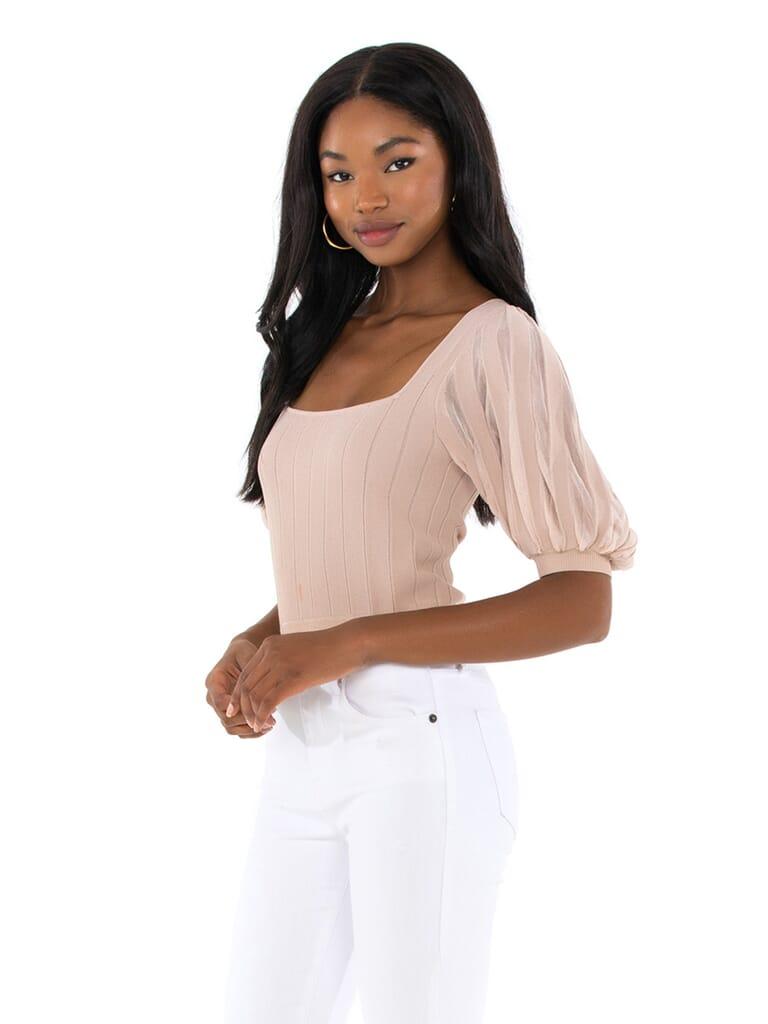 ASTR Imani Sweater in Dark Blush