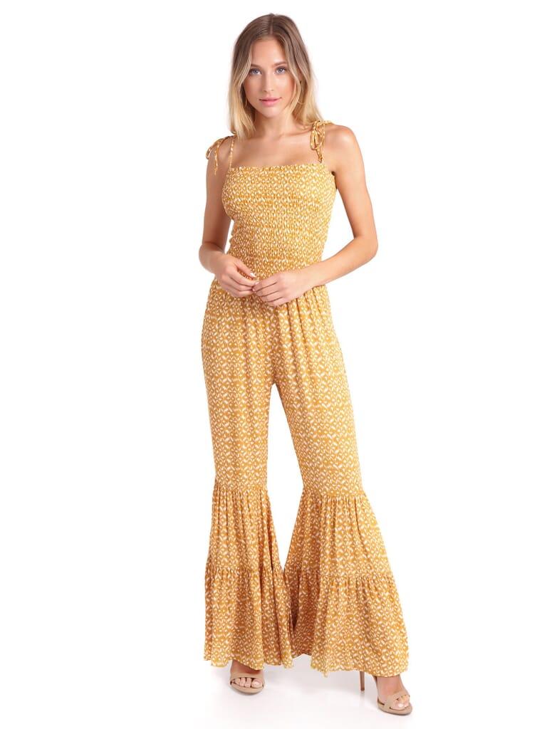 FashionPass Indian Summer Jumpsuit in Mustard