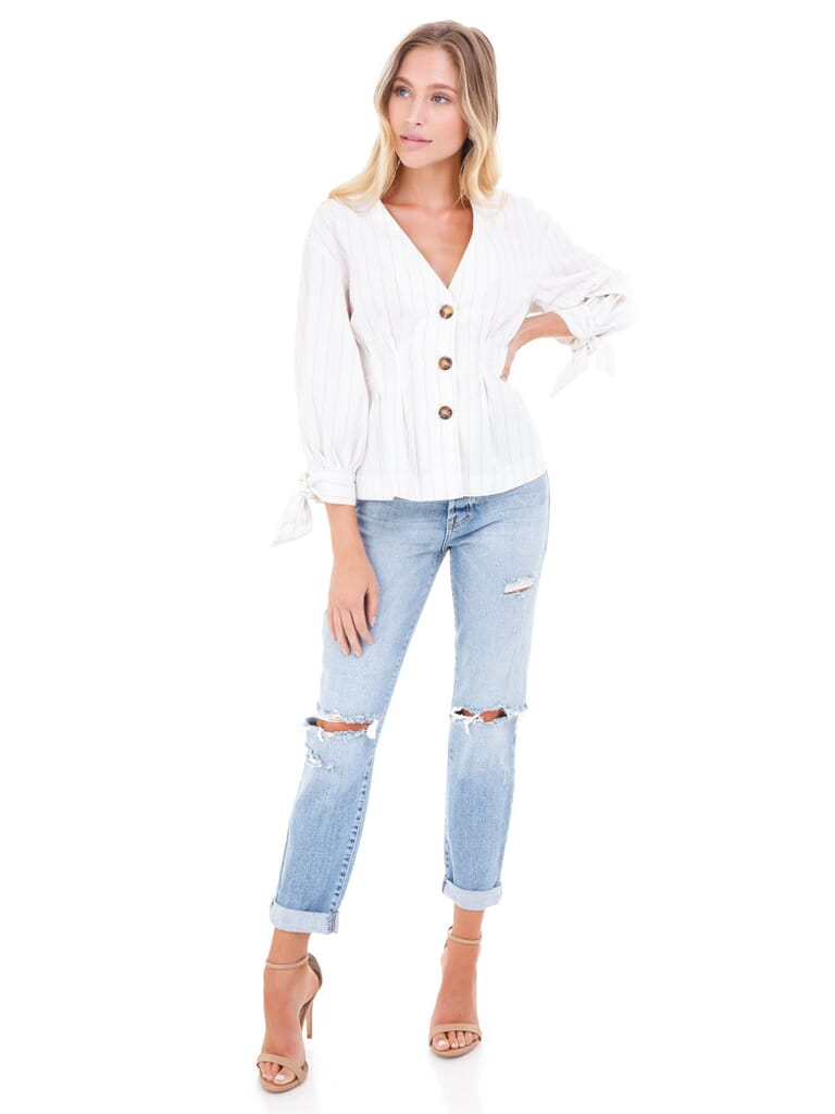 FashionPass Ivory Stripe Top in Ivory