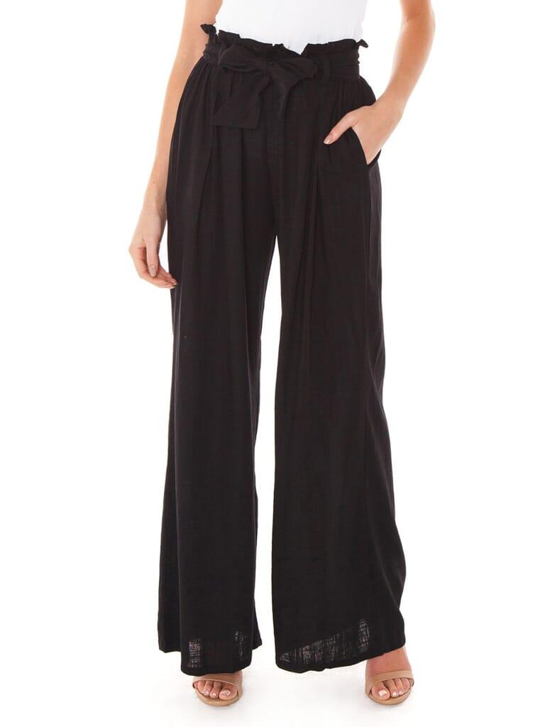 FashionPass Izzy Pants in Black