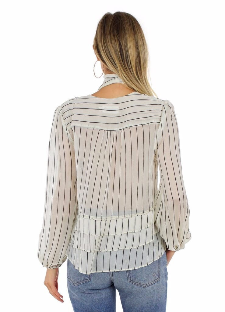 Line & Dot Jacqui Blouse in Ivory