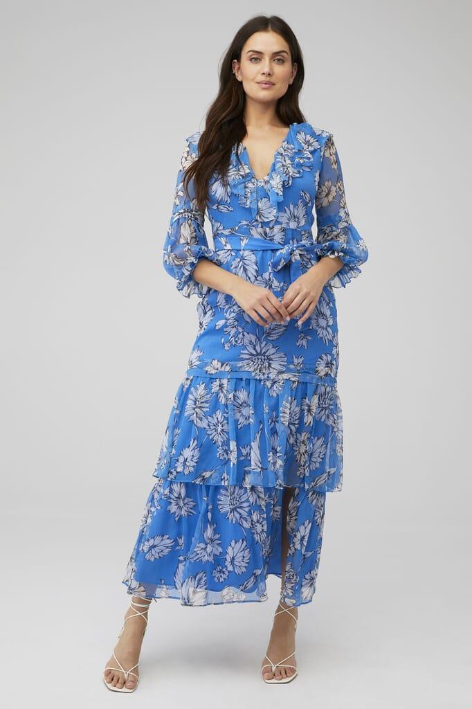 Amanda Uprichard Janelle Maxi Dress in Fairfield