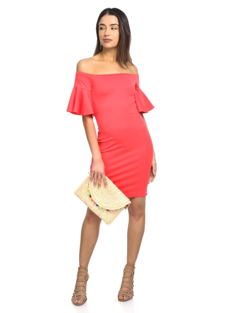 Amanda Uprichard Jersey Dress in Coral