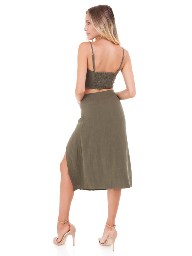 FashionPass Jojo Two Piece Set in Olive