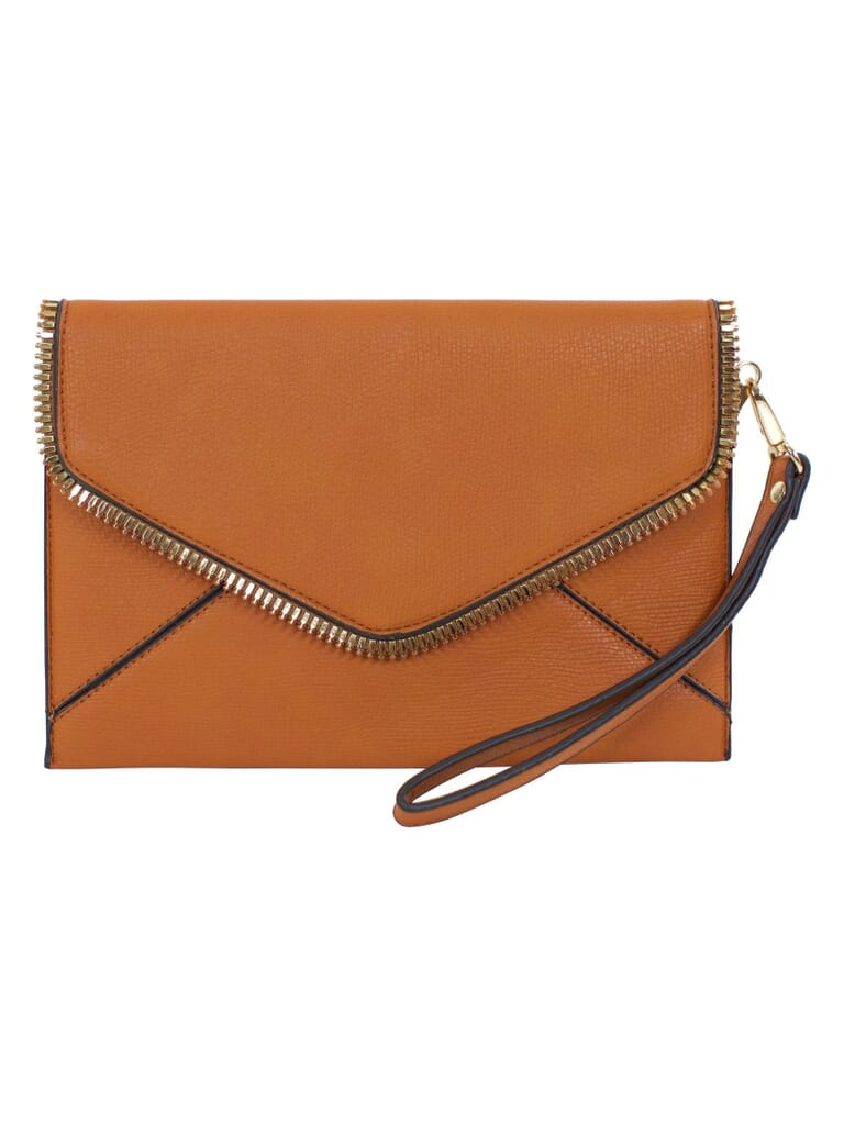 FashionPass Kara Clutch in Brown