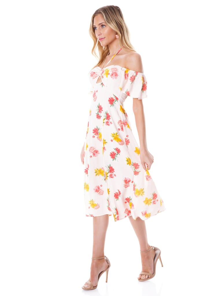 ASTR Kayli Dress in Blush/Multi Floral