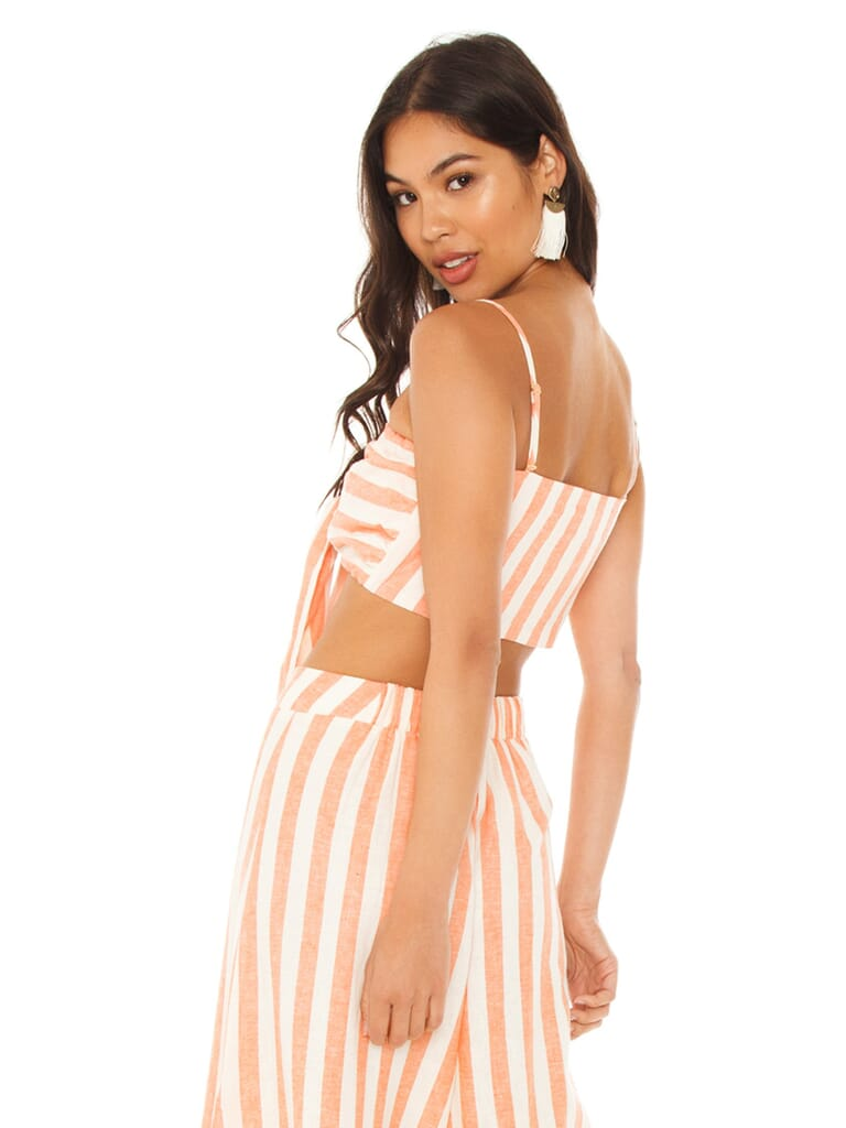 Show Me Your Mumu Kenny Scarf Top in Dreamsicle Stripe Linen
