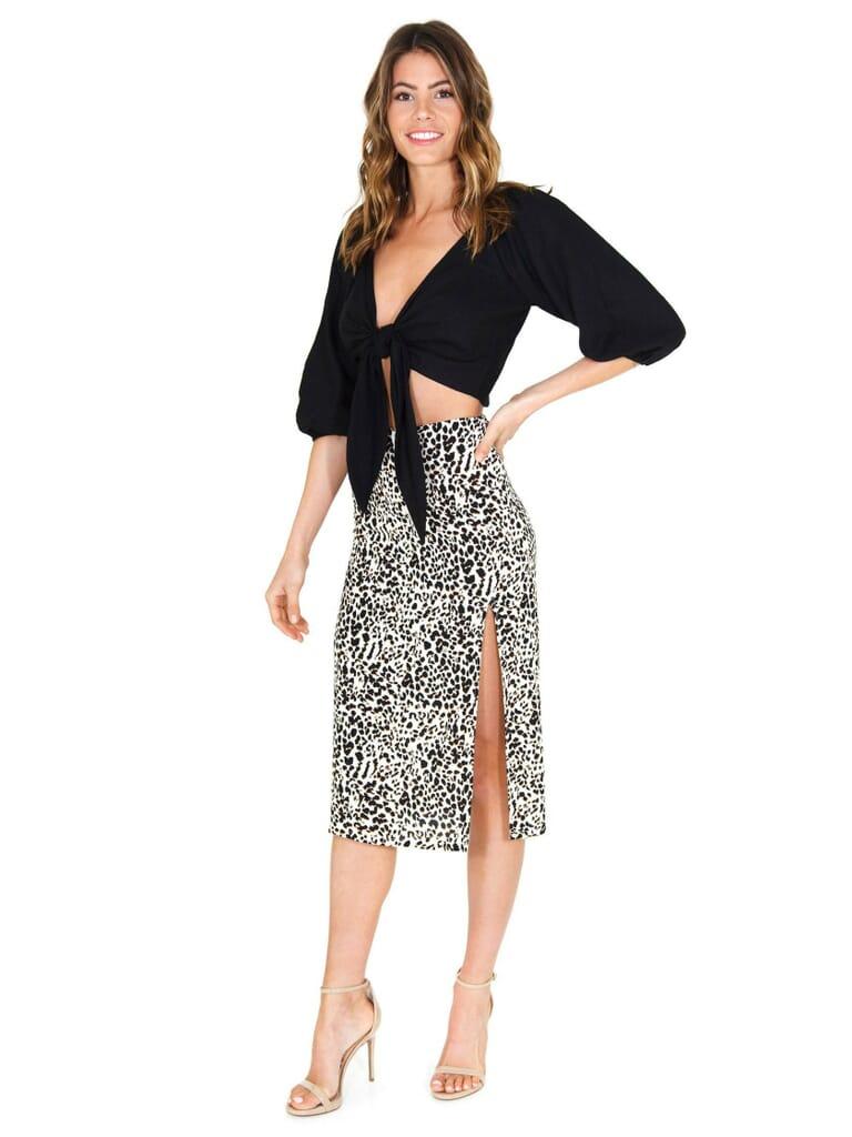 FashionPass Kenzie Skirt in Cheetah