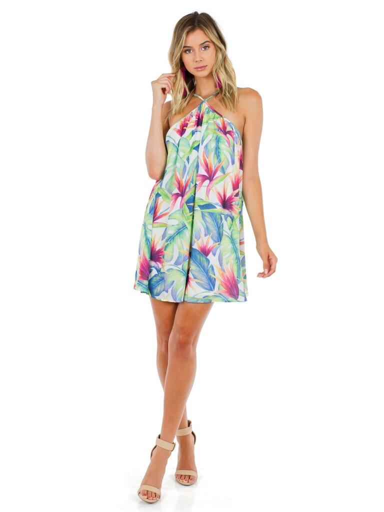 Show Me Your Mumu Lexington Mini Dress in Palm Flings