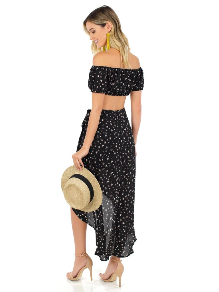 FashionPass Life'S A Dream Two Piece Set in Black