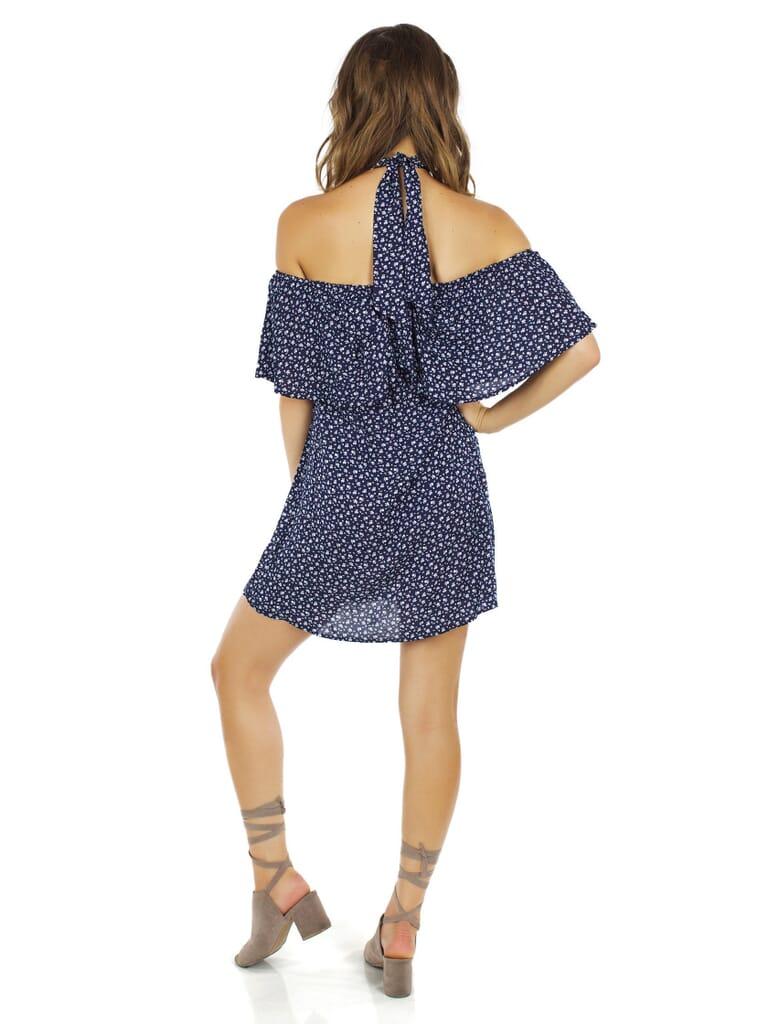 Reverse Lila Dress in Blue Floral