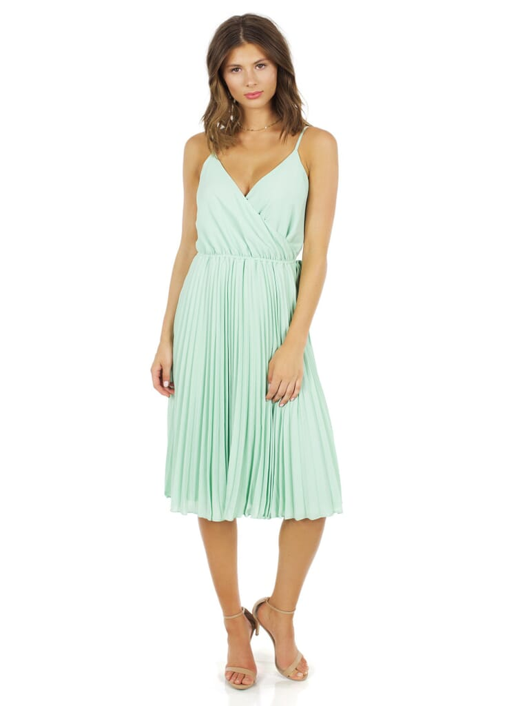 Ali & Jay Lily Pond Fit & Flare Dress in Sage