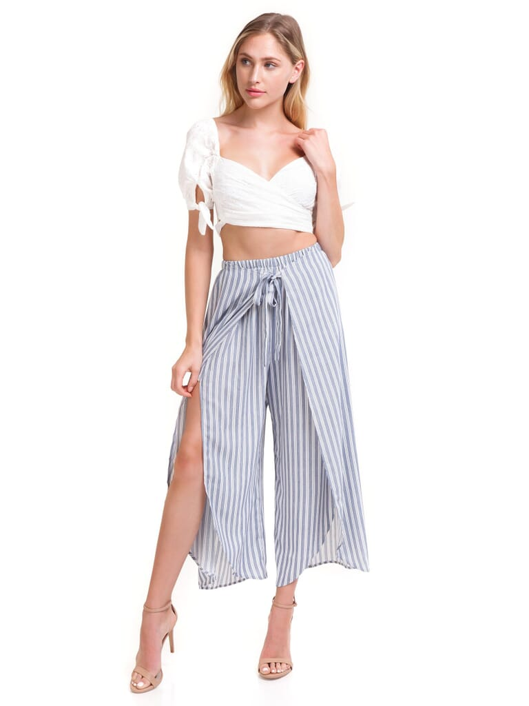 Show Me Your Mumu Limbo Pants in She Sails Stripe Flux