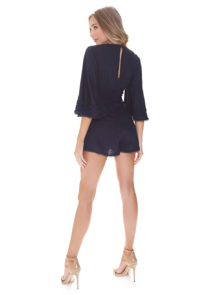 Finders Keepers Limoncello Playsuit in Navy