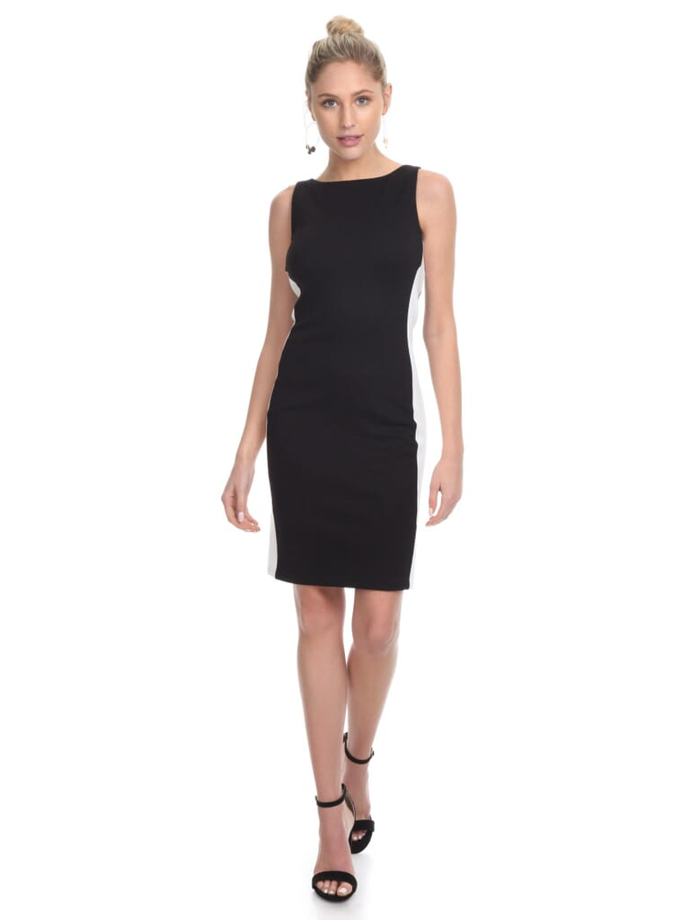 French Connection Lore Lula Ponte Bodycon Dress in Black
