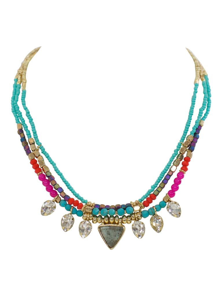 FashionPass Lost In Paradise Necklace in Multicolor