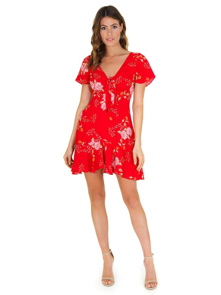 BB Dakota Love Back Atcha Dress in Red
