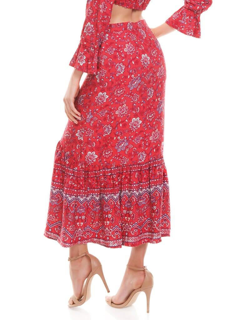 MINKPINK Lucia Maxi Skirt in Multi