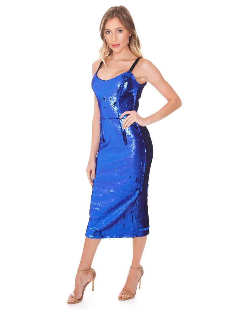 Dress the Population Lynda Dress in Electric Blue