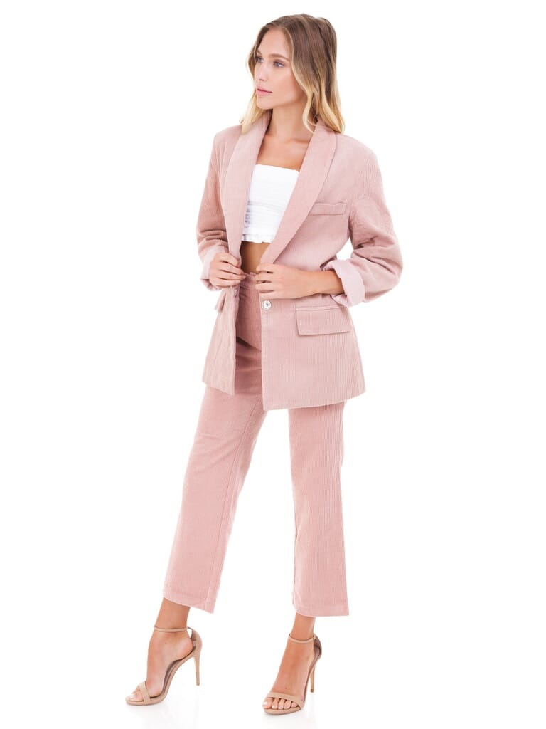 FashionPass Mad For You Two Piece Set in Dusty Rose