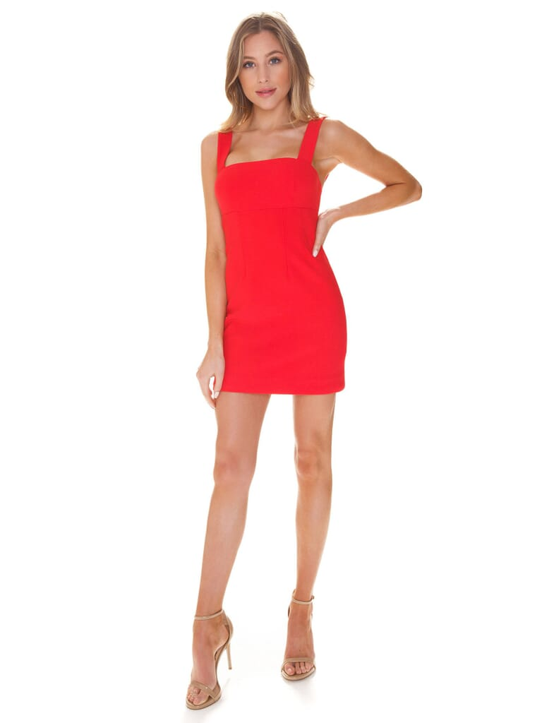 Finders Keepers Magdalena Mini Dress in Red