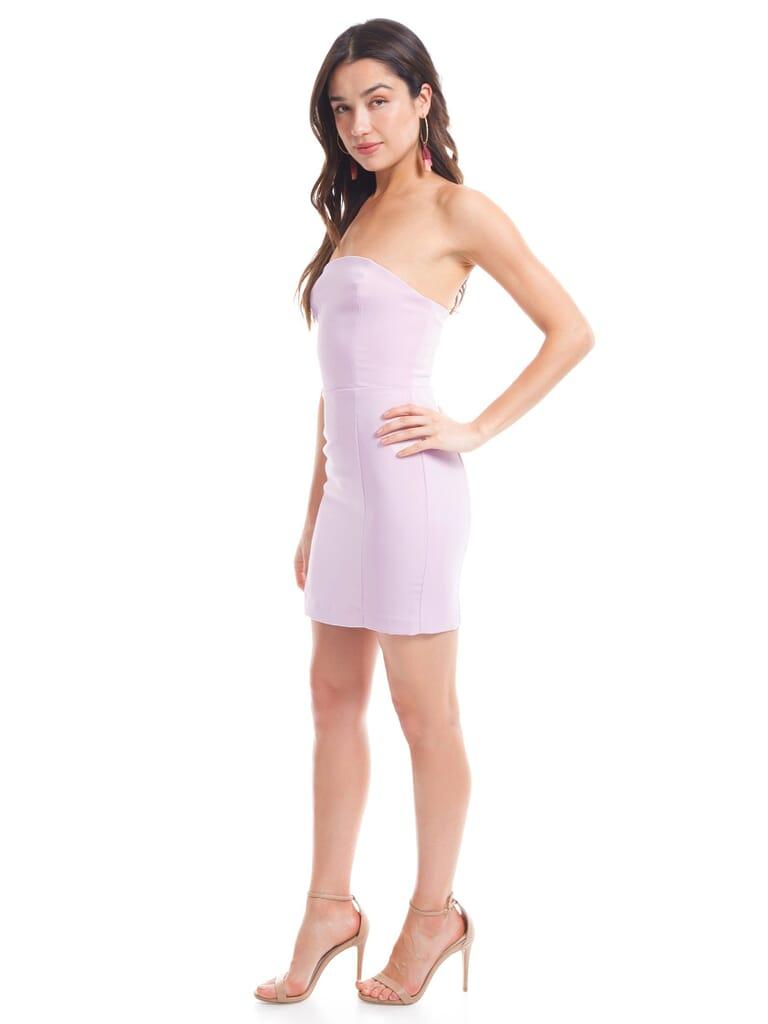 Amanda Uprichard Mandy Dress in Rose Quartz