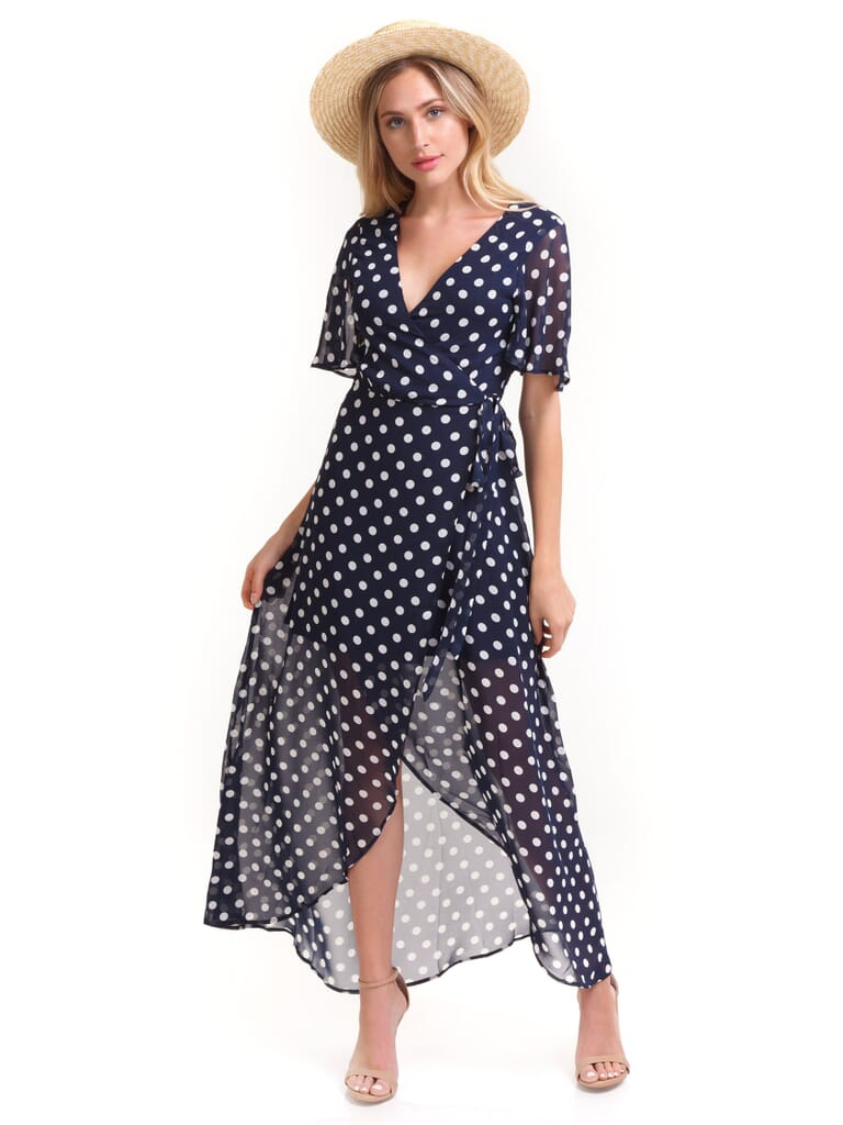 Show Me Your Mumu Marianne Wrap Dress in Dippin Dot