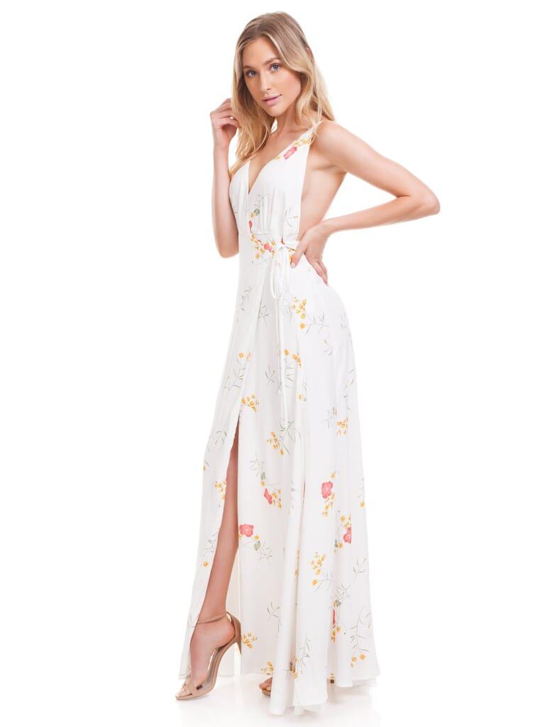 Capulet Maxine Maxi Dress in Ivory Floral Print