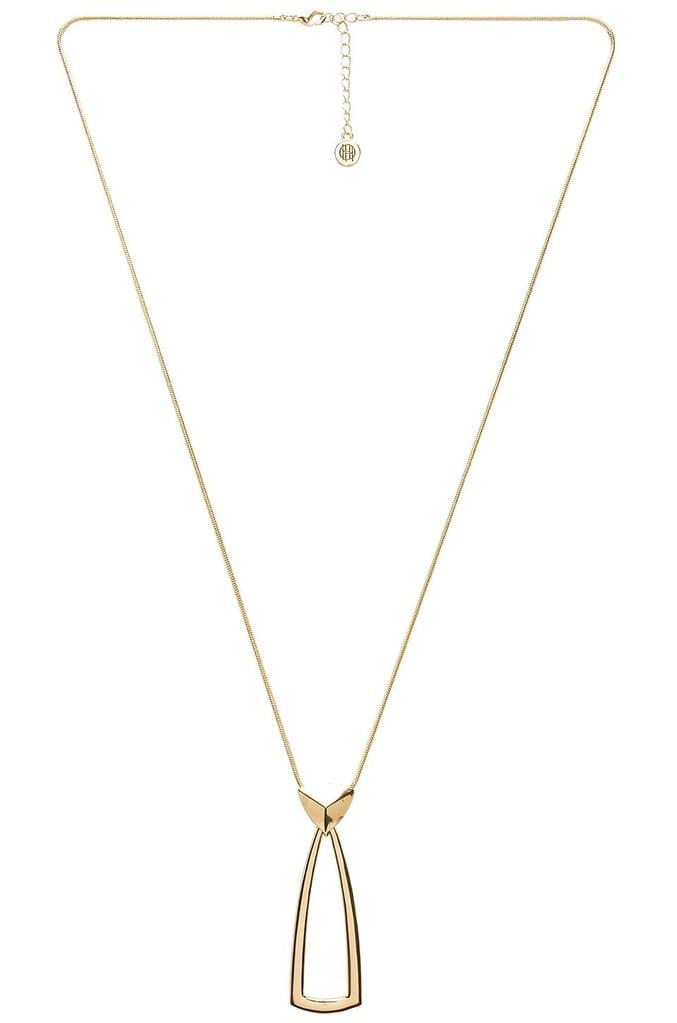 House of Harlow 1960 Mesa Door Knocker Pendant Necklace in Gold