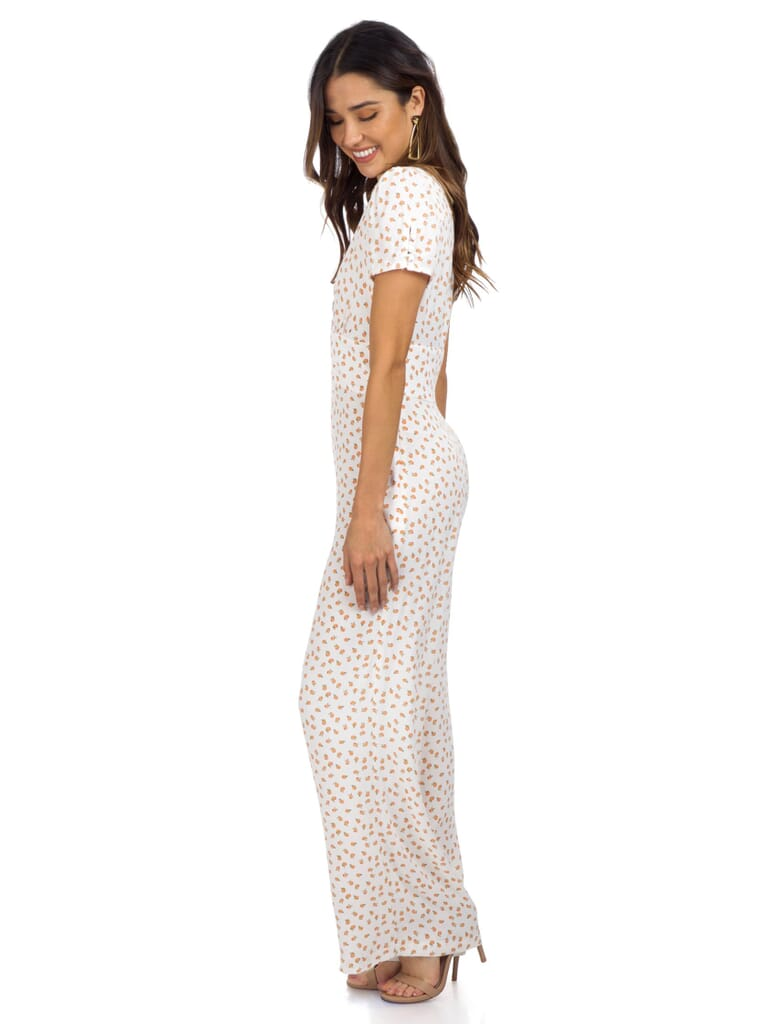Free People Mia Jumpsuit in Ivory