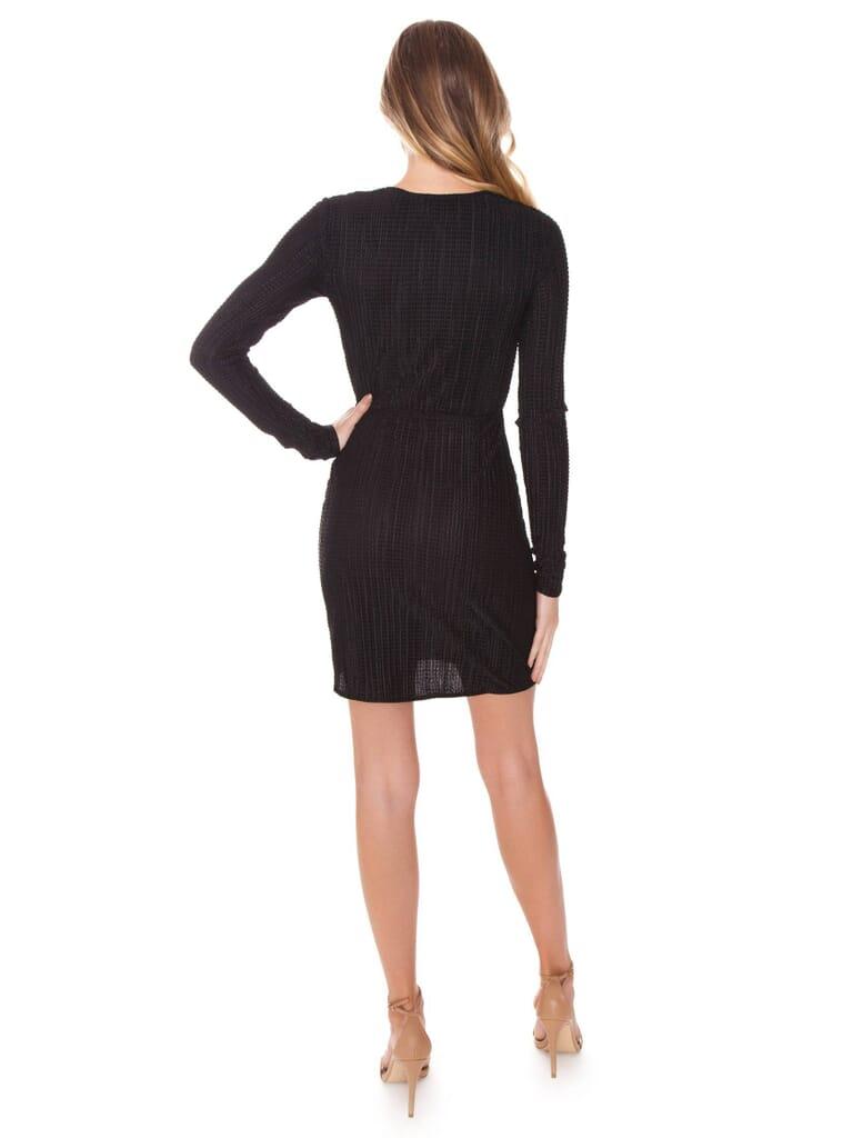 Show Me Your Mumu Monroe Dress in Silky Scrunch Black