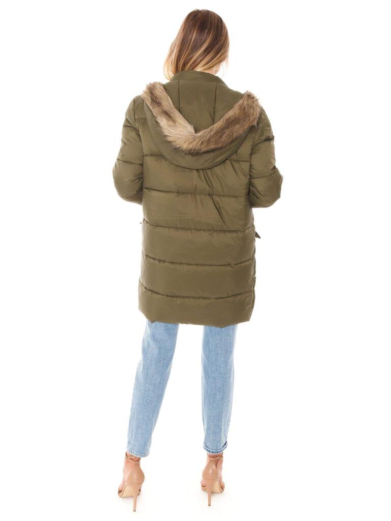 BB Dakota Moon Walker Puffer Jacket in Olive