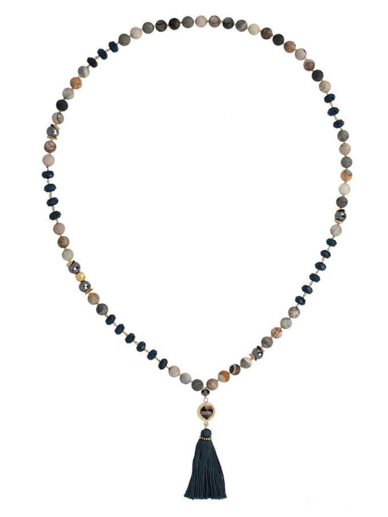 Chan Luu Multi Mix Tassel Necklace in Multicolor