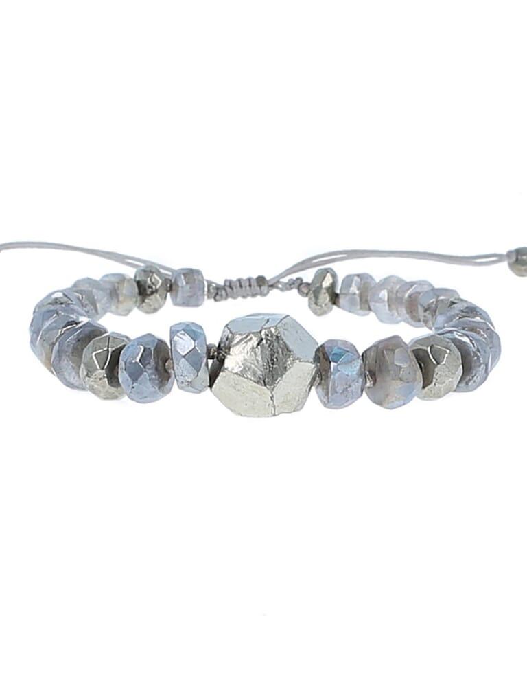 Chan Luu Mystic Labradorite Adjustable Bracelet in Mystic Labradorite